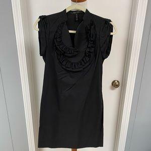 BCBGMaxazria XXS Black Bib Dress